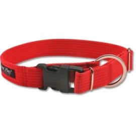Obroża bawełniana 34-55cm - Czerwona