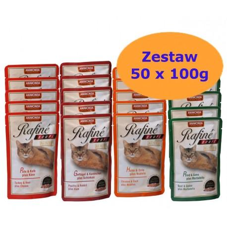 Animonda Rafine Soupe Zestaw 50 x 100g - Mix smaków