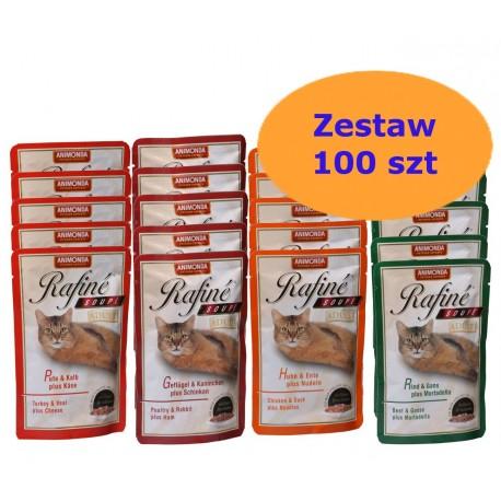 Animonda Rafine Soupe Zestaw 100 x 100g - Mix smaków