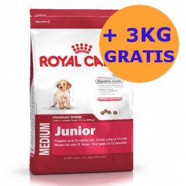 Royal Canin Medium Junior 15 + 3KG GRATIS !!!