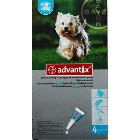 Advantix Spot-on 4 - 10kg - 4 pipety