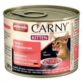 Animonda Carny Kitten Wołowina i Serca 200g