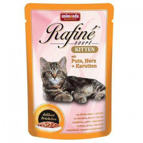 Animonda Rafine Soupe Kitten Indyk i Serca 100g