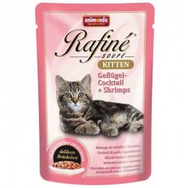 Animonda Rafine Soupe Kitten Koktail Drobiowy z Krewetkami 100g