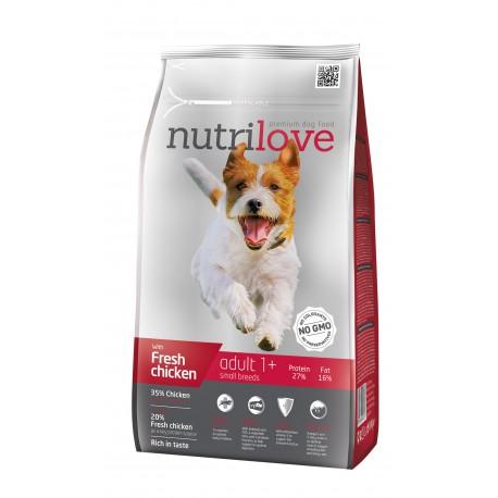 Nutrilove Adult Small 2 x 8kg + 3,2KG GRATIS