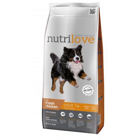 Nutrilove Adult Large 2 x 12kg + 4,8KG GRATIS