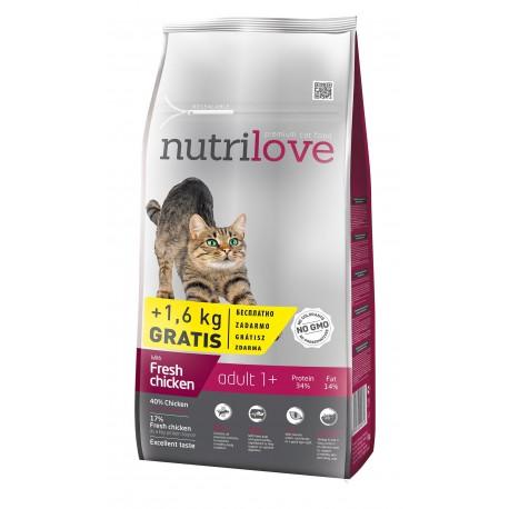 Nutrilove Adult Chicken 2 x 8kg + 3KG GRATIS