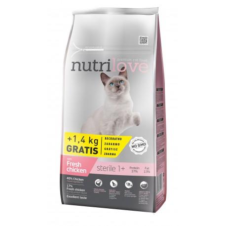 Nutrilove Sterile 2 x 7kg + 2,8KG GRATIS