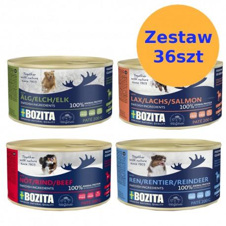 Bozita karma dla psa w puszkach 200g - ZESTAW 36szt