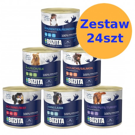 Bozita karma dla psa w puszkach 625g - ZESTAW 24szt