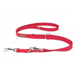 Smycz bawełniana M 200cm - Czerwona