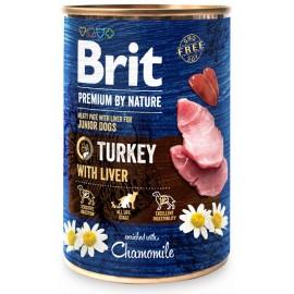 Brit Premium By Nature Junior Turkey With Liver 400g