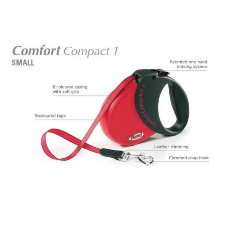 Flexi Comfort Compact 1 - psy do 15kg - Czerwona