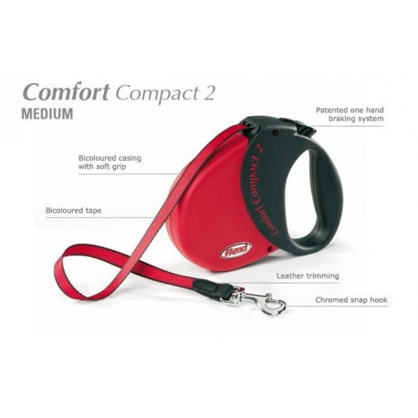 Flexi Comfort Compact 2 - psy do 25kg - Czerwona