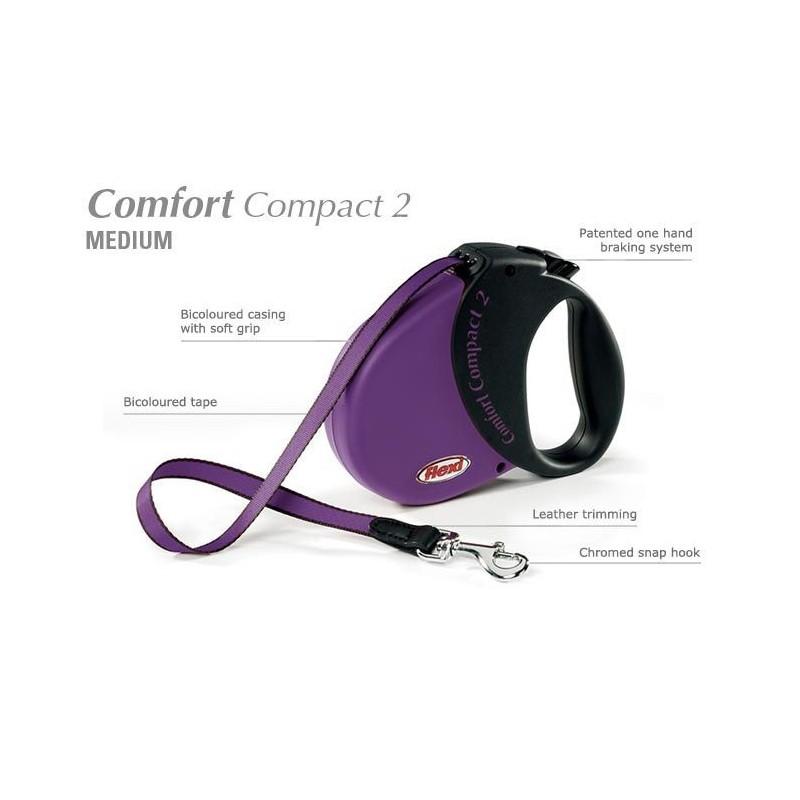 smycz flexi comfort compact 2 fioletowa sklep. Black Bedroom Furniture Sets. Home Design Ideas