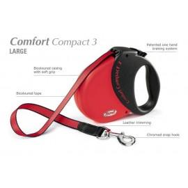 Flexi Comfort Compact 3 - psy do 60kg - Czerwona
