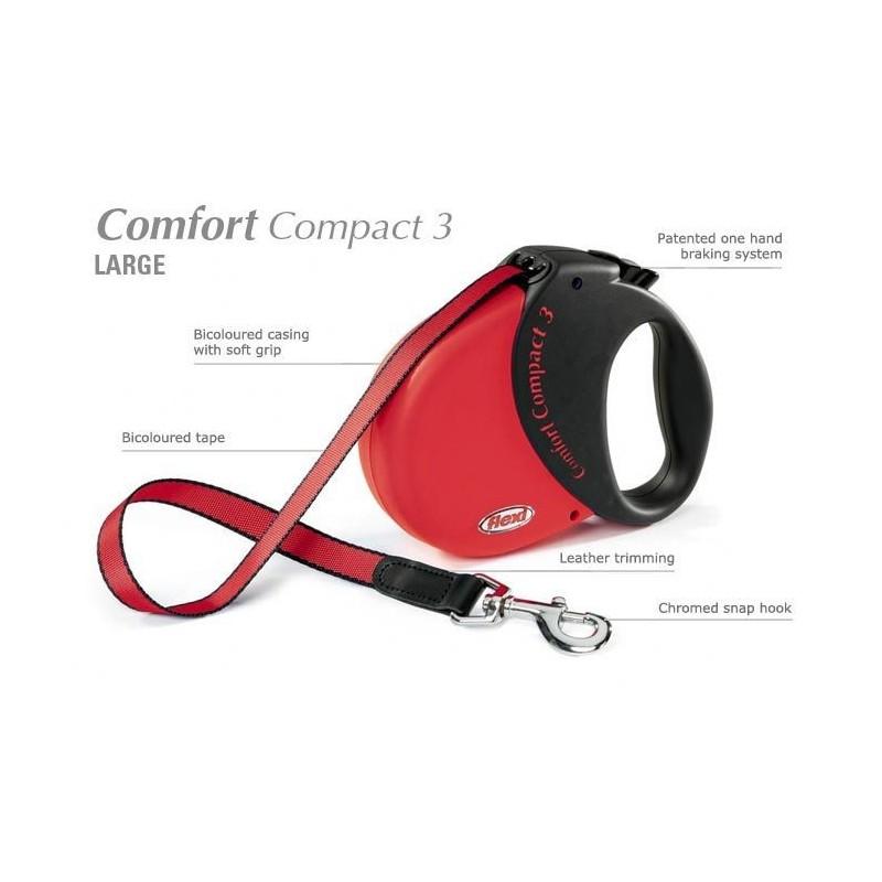 smycz flexi comfort compact 3 czerwona sklep. Black Bedroom Furniture Sets. Home Design Ideas